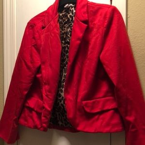 Chico's red blazer